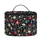 Signare Tapestry Toiletry Bag Makeup Organizer bag for Women with Jacobean Dream Design