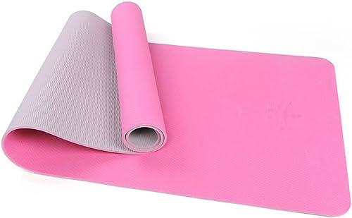 OIBHFO Home Tapis de Yoga, Couverture de Yoga Professionnelle, Tapis d'exercice antidérapant (Couleur   A, Taille   6mm)
