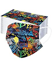 N-B 50/100 Pcs Niños Tela de 3 Capas Colores Dibujos de Arte Abstracto Filtros de Alta Densidad 2021 Industrial Cómodo Niño Chica de 3-12 Años Bufanda