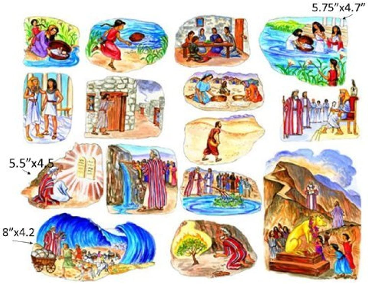 The Story of Moses Felt Figures for Flannel Board Bible Stories-precut by Story Time Felts