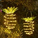 2-Pack JSOT Hanging Solar Pineapple LED Lights