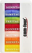 com-four® Medikamentendosierer 7 Tage - Medikamenten-Box (Morgens, Mittags, Abends) - Pillendose - Tablettendose - Wochendosierer (001 Stück - weiß ohne Zubehör)
