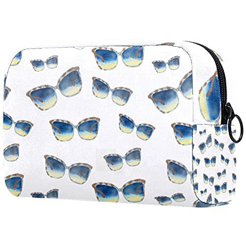 Yitian Bolsa de cosméticos de gafas de sol para mujer, adorable bolsa de maquillaje espaciosa bolsa de aseo de viaje