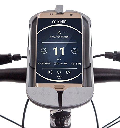 SMINNO CESAcruise, Freisprecheinrichtung & Universelle Smartphone Halterung fürs Fahrrad, Mountain Bike, Motorrad, Roller, E-Bike, Segway oder Kinderwagen, + Virtual Cockpit APP CruiseUp