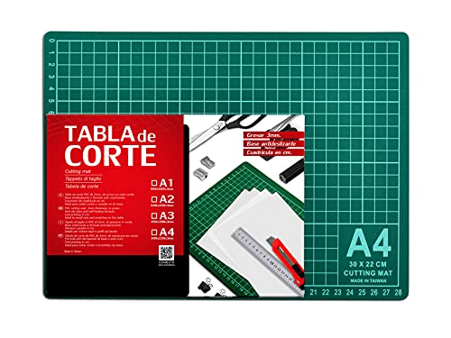 Base de Corte Autocicatricante Patchwork - Cutting Mat de 5 capas para Costura y Manualidades (TAMAÑO A4 - 29,7 x 21 cm)