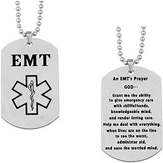 paramedic prayer dog tag