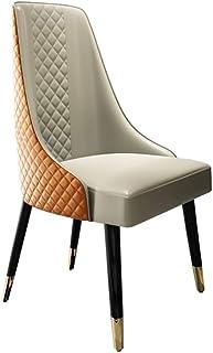Shisyan Silla de comedor 2 sillas de madera maciza de hoteles for cenar en sillas silla moderna minimalista Inicio restaurante Estudio suave de cocina (Color: Naranja, Tamaño: 55cm x 61cm x 93cm) Sill
