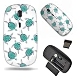 Unique Pattern Optical Mice Mobile Wireless Mouse 2.4G Portable for Notebook, PC, Laptop, Computer - Sea Turtle Pattern