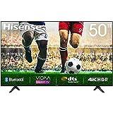 50 Zoll Hisense 50A7100F, 4K HDR Ultra HD-Fernseher, DTS-Sound, DLED-Hintergrundbeleuchtung, Panel-Bittiefe 8 Bit + FRC, Eingangsverzögerung