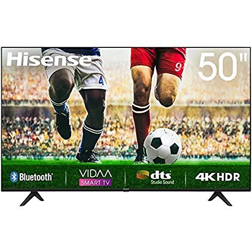 50 Zoll Hisense 50A7100F, 4K HDR Ultra HD-Fernseher, DTS-Sound, DLED-Hintergrundbeleuchtung, Panel-Bittiefe 8 Bit + FRC, Eingangsverzögerung <20 ms, VIDAA U Smart TV-Betriebssystem