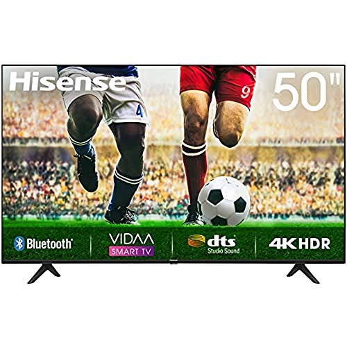 Hisense Uhd TV 2020 50A7100F - Smart TV Resolución 4K, Precision Colour, Escalado Uhd con Ia, Ultra Dimming, Audio Dts Studio Sound, Vidaa U 4.0, Compatible Alexa
