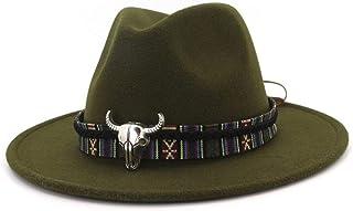 tiroler da escursionismo bianco e chimre sottile in feltro in 3 Ampio cappello originale da uomo in 100/% lana con cordoncino di canapa