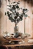 Dekoteller Schale Servierplatte Aluminium Deko Dekoration Silber Luxus - Moderne Dekoschale aus Metall - Tischdeko Hochzeit - Weihnachtsdeko für Wohnzimmer, Esszimmer oder Küche - XXL 40 cm - 4
