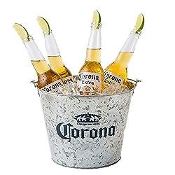 【Amazon.co.jp限定】 コロナ・エキストラ ボトル [ メキシコ 355ml×8本 バケツ付きセット ] [ギフトBox入り]