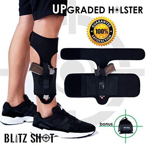 7. BlitzShot Ankle Holster for Concealed Carry Universal Ankle Holster