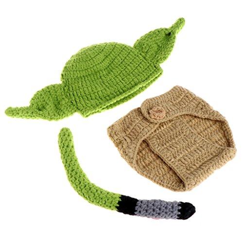 luosh, recin Nacido, nio, nia, beb, Crochet, Tejido, Disfraz, fotografa, Foto, Prop, Sombrero, Conjunto