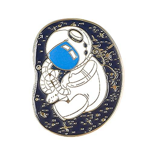 COLORFULTEA Astronauta Bebé Esmalte Pin Viaje En El Espacio Broches Bolsa Solapa Pin Insignias Planeta Luna Estrella Meteorito Joyería Regalo para Niños