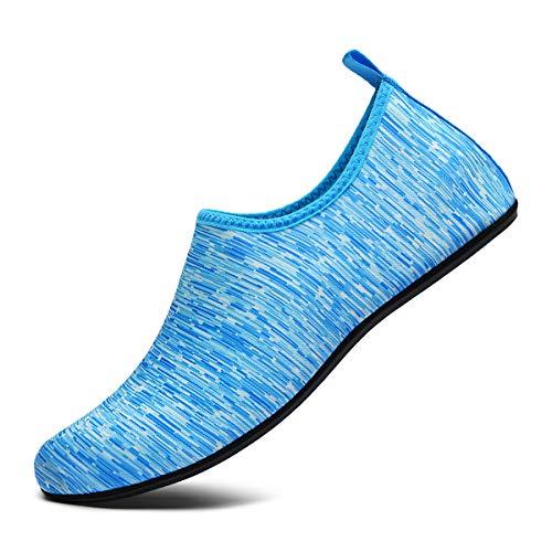 COMAJUMATO Scarpe da Acqua per Uomo Donna Scarpe Casual per Yoga e Corsa, nero (Scarpette a strappo Voltaic 3 Velcro Fade - Bambini), 49 EU