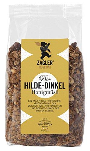 ZAGLER MÜSLIBÄR Bio-Hilde-Dinkel-Honigmüsli (1 x 500 g)