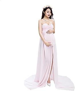 e0acc4440b6 Samber Robe Maternité Longue Photo Robe Grossesse Photographie Soirée  Mariage Rose Cérémonie Robe Maternité Dentelle Mousseline