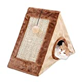 Eitchen Cat House & Scratcher Pads, Triangle Scratching Board, Cat Grinding Claws, Sisal Cat Climbing Frame, Cat Supplies Toys