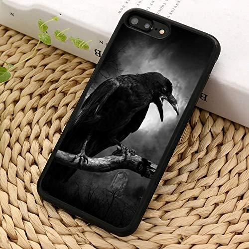 WGOUT Funda de teléfono de Cuervo gótico para iPhone X XR XS 11 12 Pro MAX 5 6 7 8 Plus para Samsung Galaxy S5 S6 S7 S8 S9 S10, para iPhone 12pro MAX