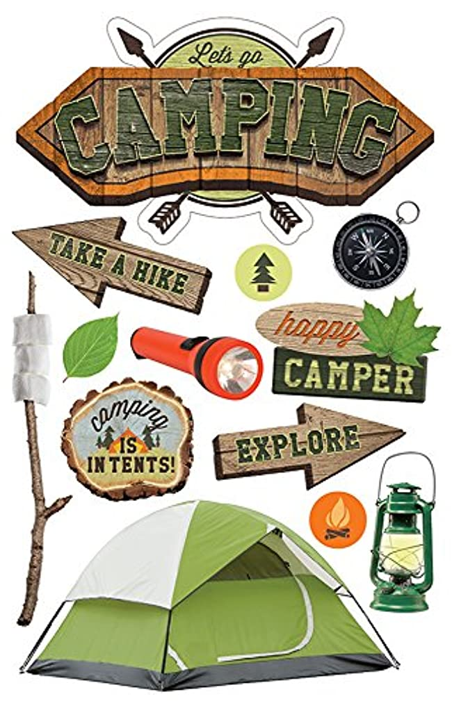 Paper House Productions STDM-0268E 3D Sticker, Camping (3-Pack)