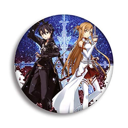 JinJiJiaZheng Anime Schwert Art Online Cartoon Brosche Pin Anstecker Badge Accessoires für Kleidung Rucksack Dekoration bestes Geschenk für Anime Fans Geschenk Style 06