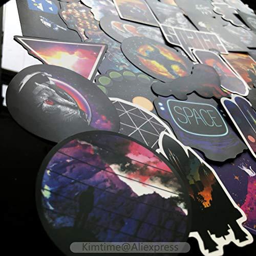 QIANGWEI 100 stukjes Space Stickers Muurdecoratie Koelkast Motorfiets Notebook Auto Sticker Karakter Speelgoed Ruimteschip Sticker