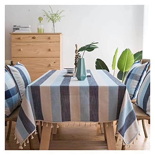 Mantel mantel a prueba de salpicaduras y manteles de encogimiento mantel anti-arrugas para la cocina de la cocina para la decoración de la mesa de fiesta al aire libre ( Color : A , Size : 140*180cm )