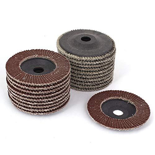 New Lon0167 20pcs 100mm Destacados 4' 'Dia 16mm eficacia confiable taladrar 80 discos de aleta de pulido Pulir ruedas de pulido(id:615 4a 63 54f)