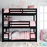 Dorel Living Sierra Triple Floor Bunk Bed | Black | DL7891TBBB model