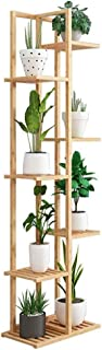 HTTSC 7 Tier Bamboo Plant Stand Widen 8 Potted Flower Pot Stand Display Rack for Indoor Outdoor Garden Greenhouse Patio Na...