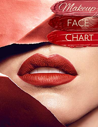 Makeup Face Chart: Make-up Papier Vorlagen Gesicht zum Ausmalen für Kosmetikerinnen und Visagisten