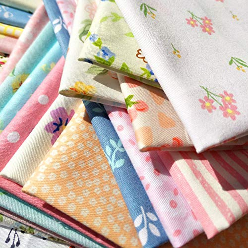 "60pcs Quilting Fabric Squares Sheets 60 Different Lovely Floral Pattern Pack Assorted Sewing Fabric for Craft 8""x 8"" (20 cm x 20 cm)100% Cotton"