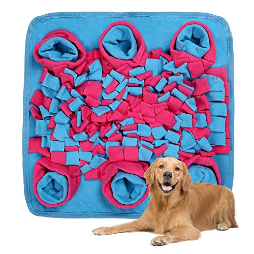 DaiWeier Tappeto Cane, Alleviare Lo Stress Dog Feeding Mat,Foraggiamento Abilità Dog Training Pet Pad Sniffing Tappeto per Cani Dogs Snuffle Stuoia (42 * 42 cm)