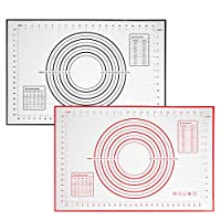 シリコン製ペストリーマット ベーキングマット ノンスティック 生地ローリングマット 計量フォンダンマット XLサイズ 24インチ x 16インチ