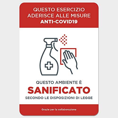 Covid 19 - Adhesivo reposicionable – Señalización de normas de seguridad y comportamiento – Cartel adhesivo 21 x 29,7 cm COV-IA060 (entorno desinfectado)
