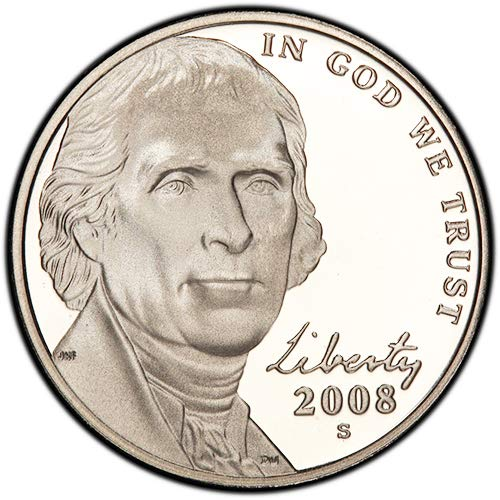 2008 S Proof Jefferson Nickel Choice Uncirculated US Mint
