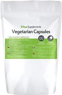 Lege vegetarische capsules | Maat 00 | 500 stuks