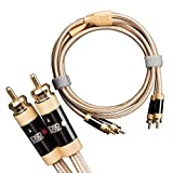 OSD Audio Aurum Unbalanced RCA Stereo Cable – Ultra-High Performance for 2-Channel Audio/Home Theater Systems, Pair, 3.2FT - AU-RCAST-1M