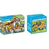 Playmobil Country Granja De Ponis con Muchos Animales Y Pajar, A Partir De 4 Años (6927) + Recinto Animales Granja