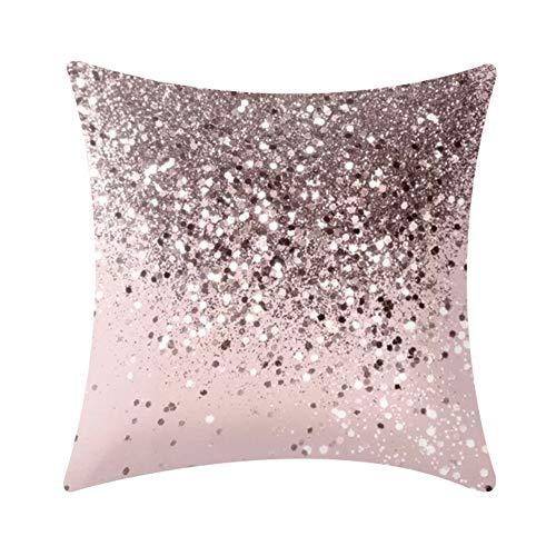 Zentto Fleckiger Punkt dekorative Kissenbezug Kissen DIY Kissen 45x 45cm Sofa Dekoration Autodekoration-pink