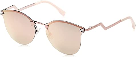 Fendi Women's FF 0040/S 0J 35J Sunglasses, Pink/Brown, 60