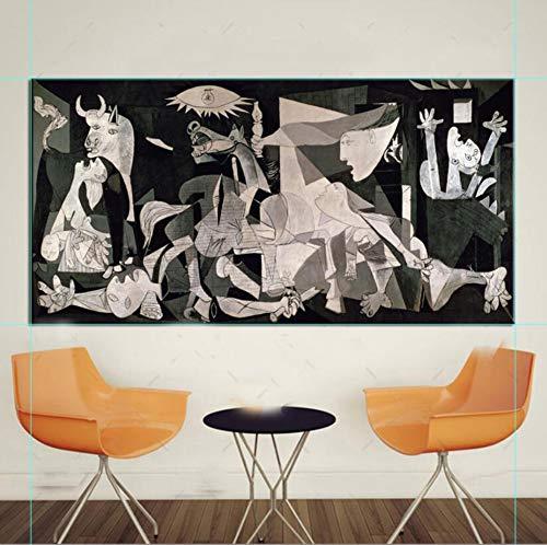 DIY Diamante Painting Large Size Picasso Classic Guernica Full Drill Rhinestone Pintura de Diamante Bordado Punto de Cruz Completo Kit para la Artesanía Pared Decor Taladro Redondo 80x220cm H2