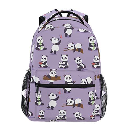 Sac à Dos d'école Happy Panda pour garçons, Filles, Sac de Voyage, Sac de Voyage, Cartable