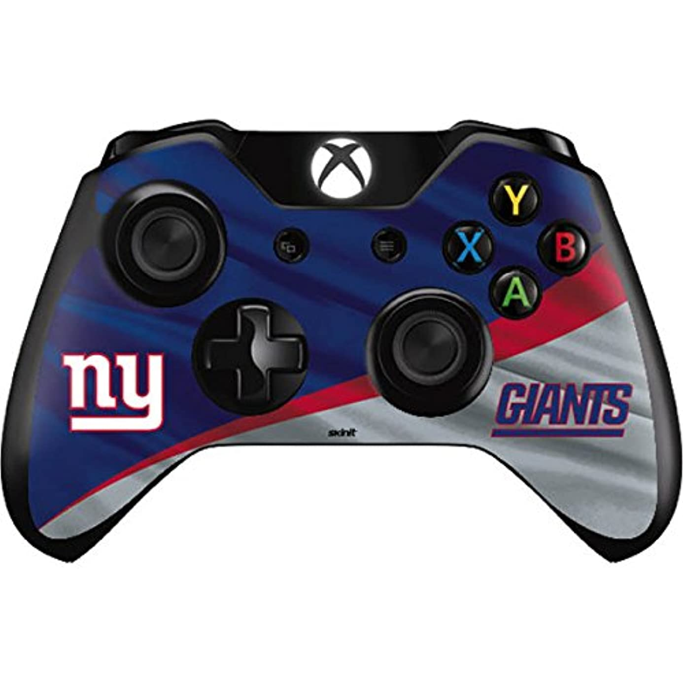 Skinit New York Giants Xbox One Controller Skin - Officially Licensed NFL Gaming Decal - Ultra Thin, Lightweight Vinyl Decal Protection