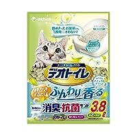 【お徳用 3 セット】 1週間消臭・抗菌デオトイレ ふんわり香る消臭・抗菌サンド ナチュラルグリーンの香り 3.8L×3セット