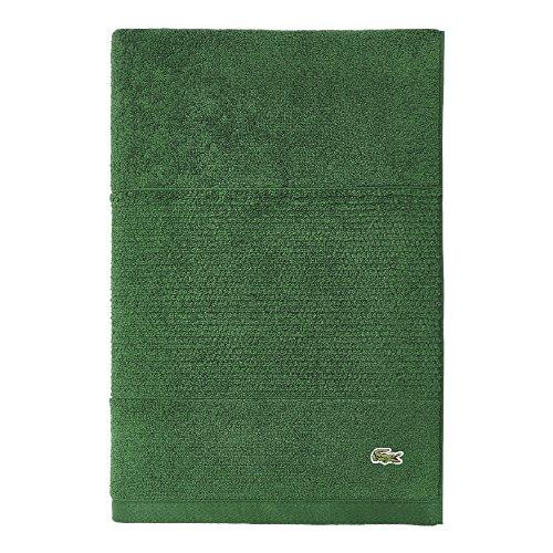 "Lacoste Legend Towel, 100% Supima Cotton Loops, 650 GSM, 35""x70"" Bath Sheet, Field Green"
