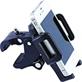 Deluxe Adjustable Mobility Phone Mount for Wheelchairs, Rollators, Scooters, Bikes, Walkers and Baby Carriages